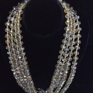 "Jewelry - Gorgeous 80"" yellow crystal necklace"